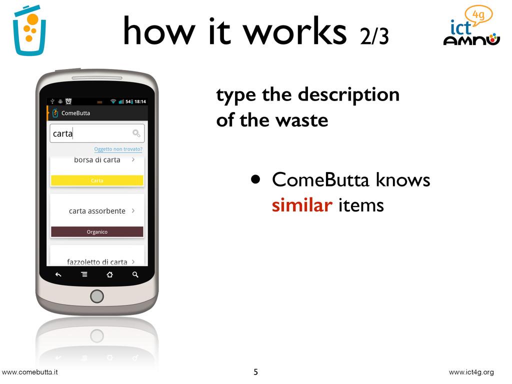www.comebutta.it www.ict4g.org how it works 2/3...