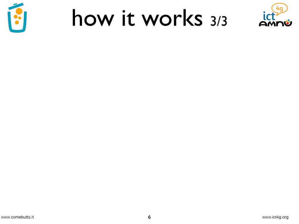 www.comebutta.it www.ict4g.org how it works 3/3...