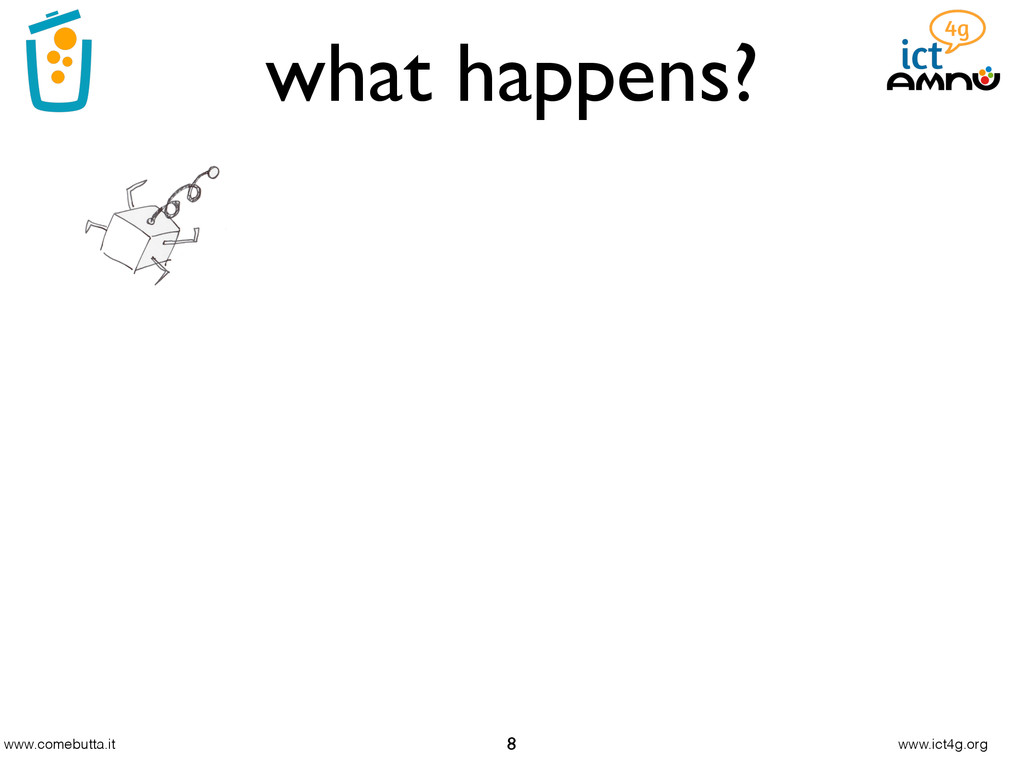 www.comebutta.it www.ict4g.org what happens? 8
