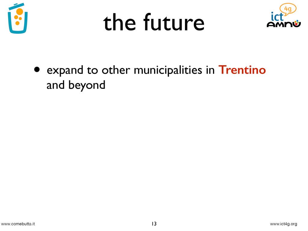 www.comebutta.it www.ict4g.org the future 13 • ...