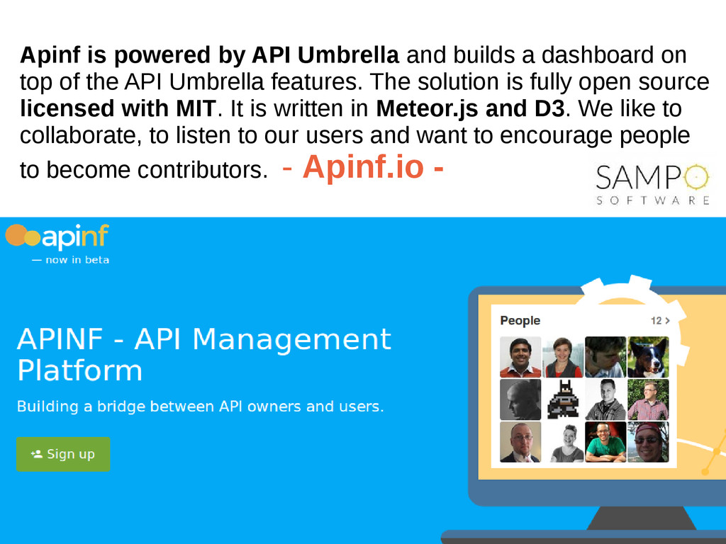 Apinf is powered by API Umbrella and builds a d...
