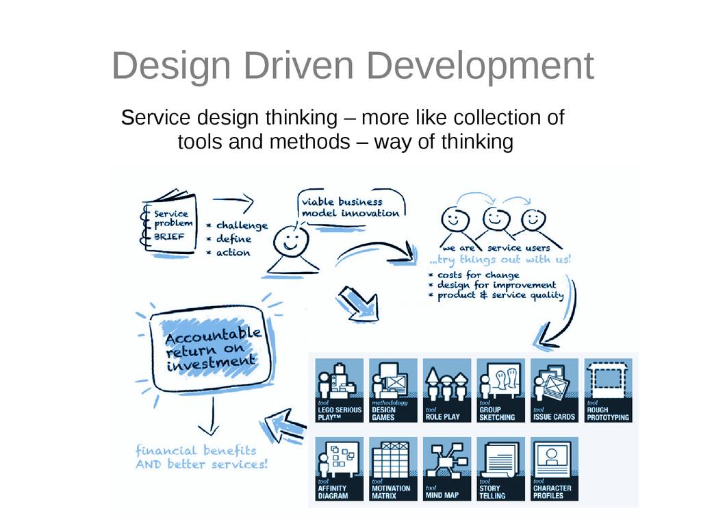 Design Driven Development Service design thinki...