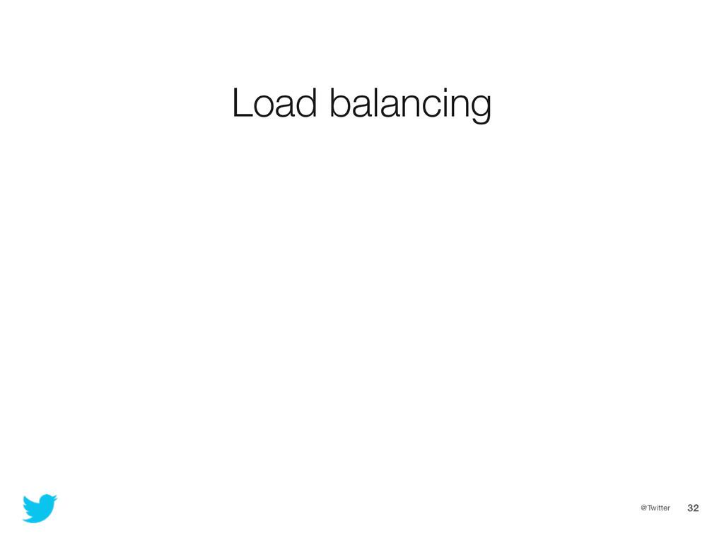 @Twitter 32 Load balancing