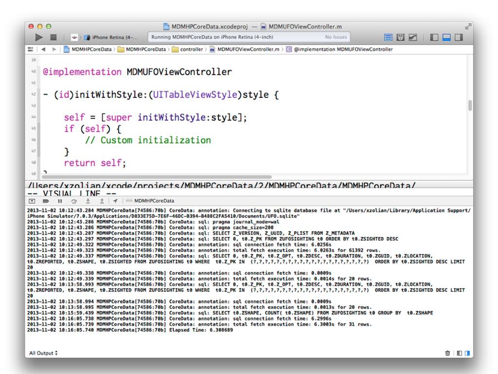 -com.apple.CoreData.SQLDebug [1,2,3]
