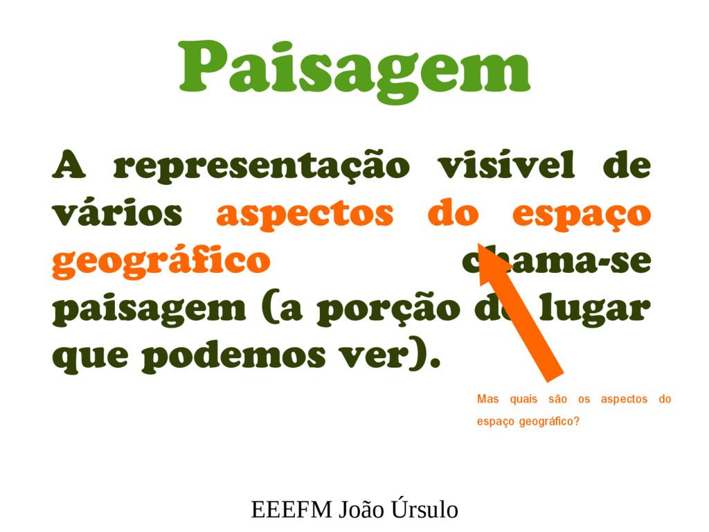 EEEFM João Úrsulo Paisagem A representação visí...