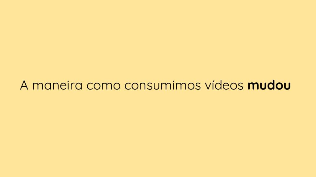 A maneira como consumimos vídeos mudou