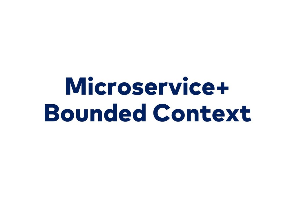 Microservice+ Bounded Context