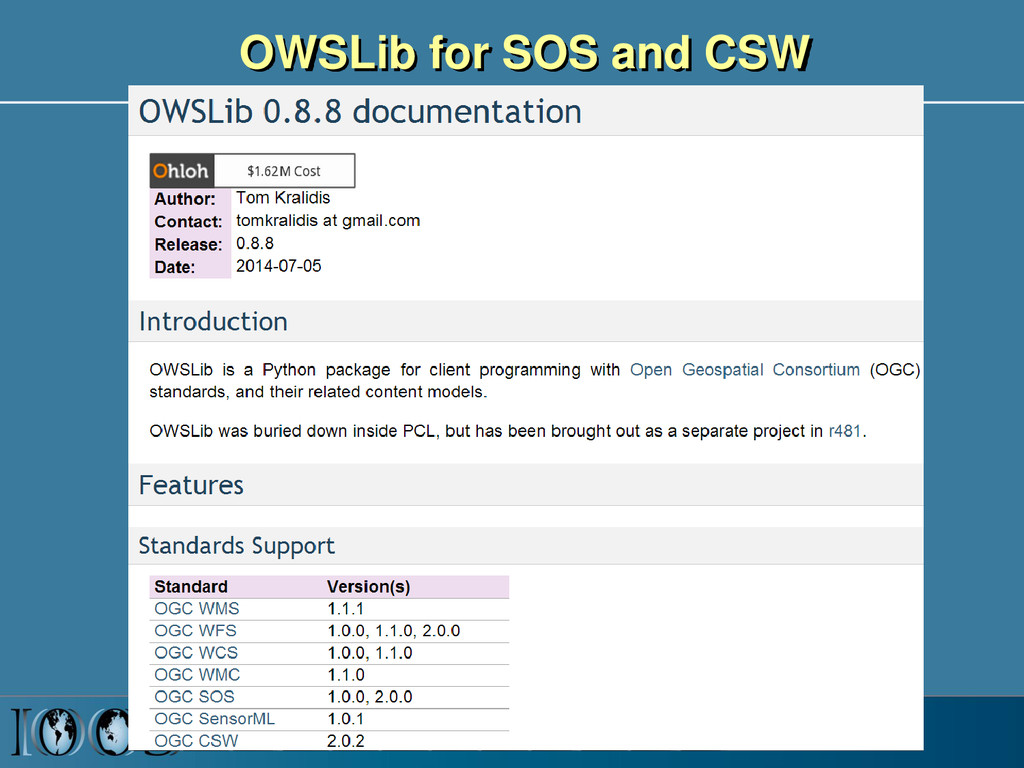 OWSLib for SOS and CSW