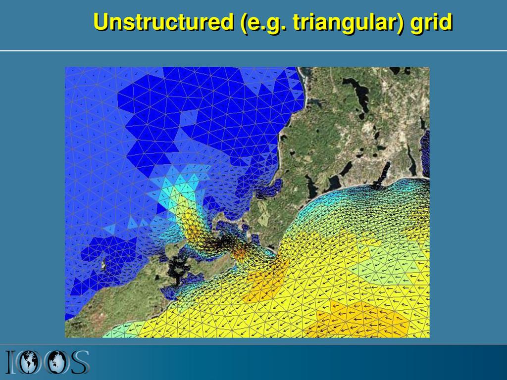 Unstructured (e.g. triangular) grid