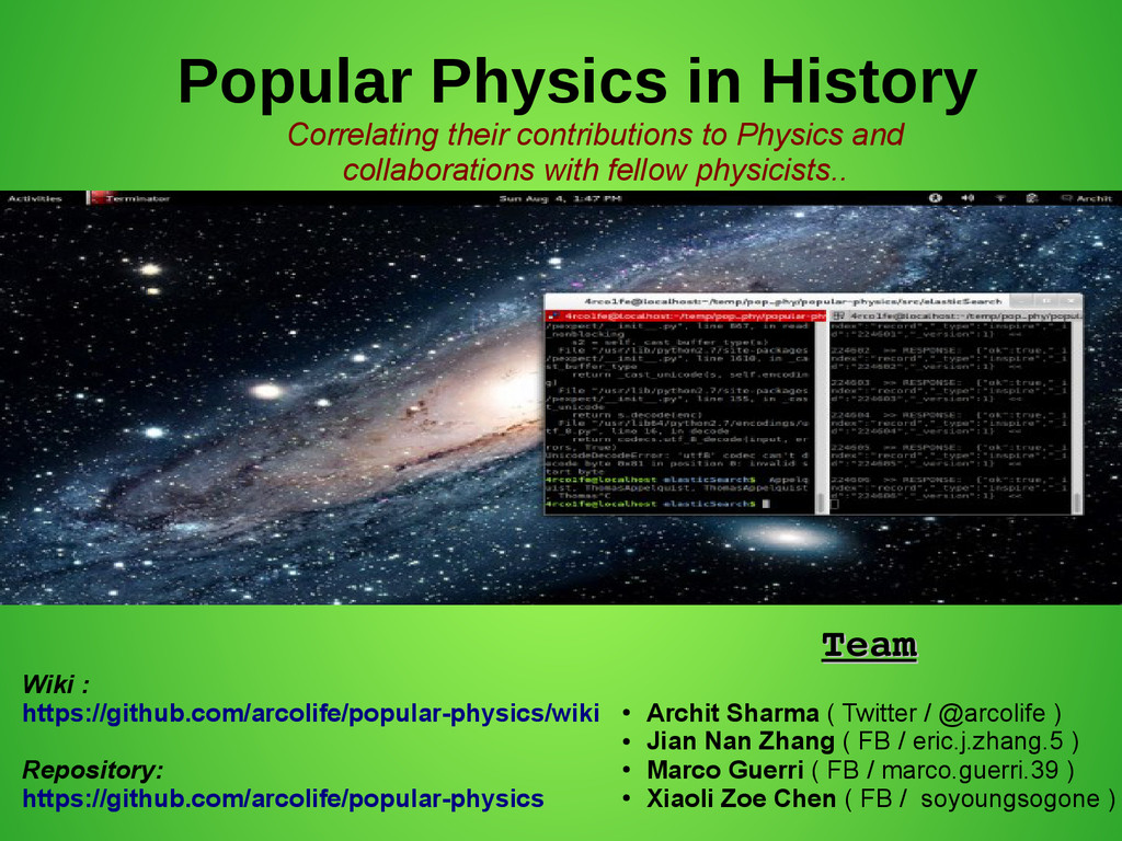 Popular Physics in History Correlating their co...