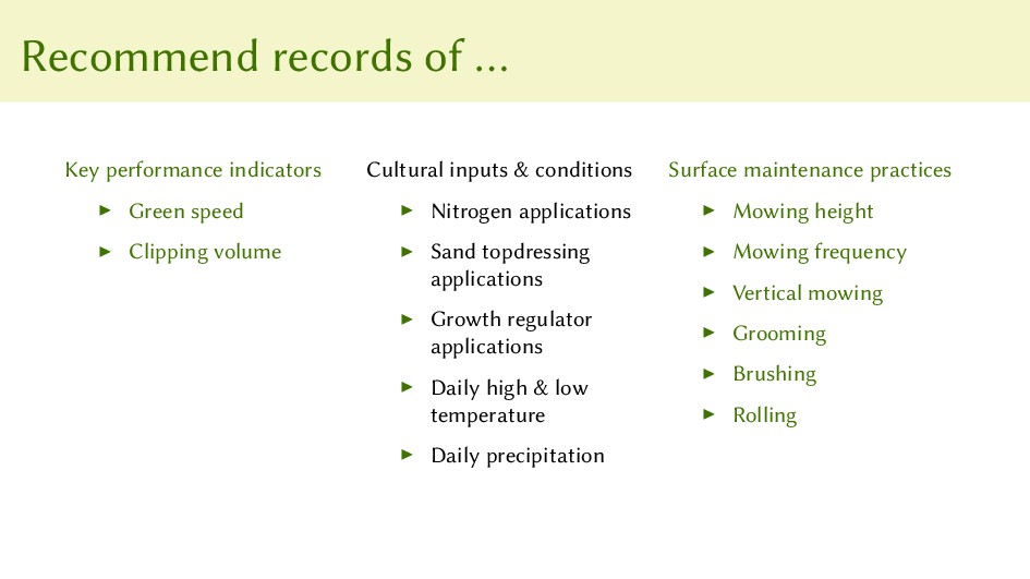 Recommend records of … Key performance indicato...