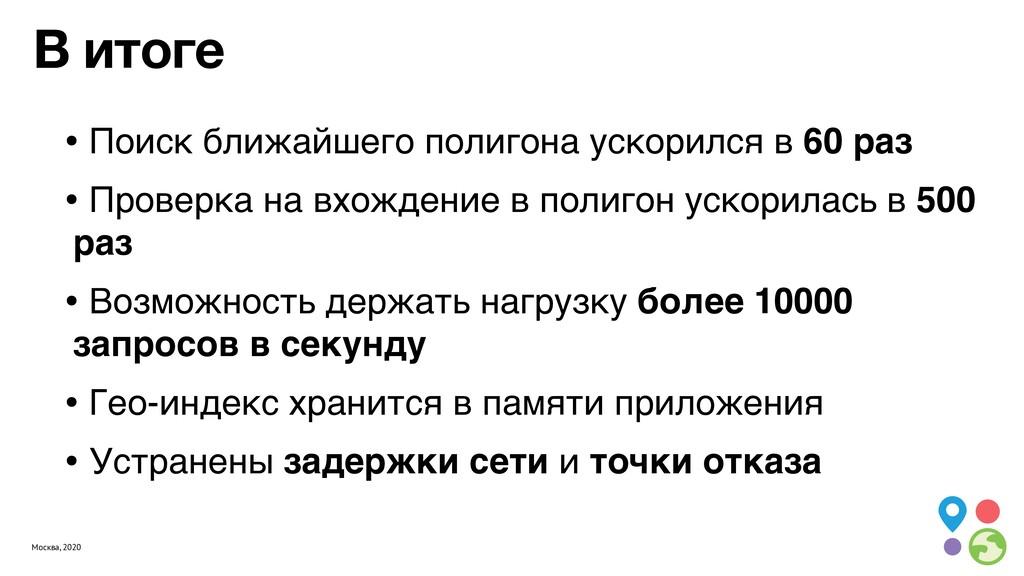 Москва, 2020 В итоге • Поиск ближайшего полигон...