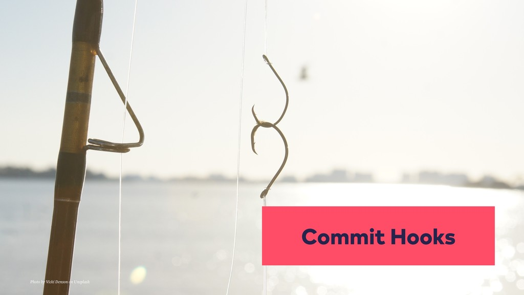 Commit Hooks Photo by Vicki Denson on Unsplash