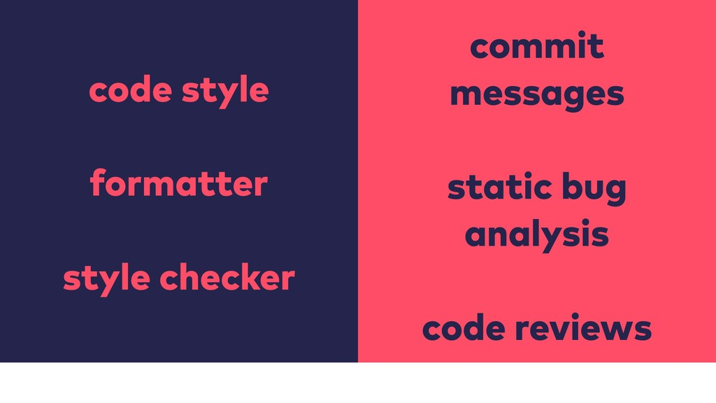 code style formatter style checker commit messa...