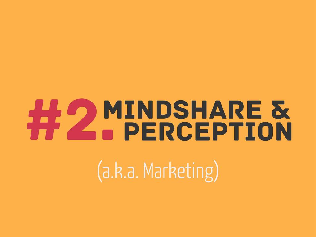 Mindshare & perception #2. (a.k.a. Marketing)