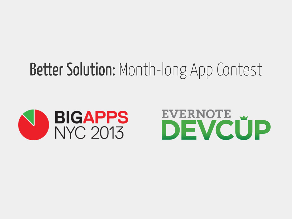 Better Solution: Month-long App Contest