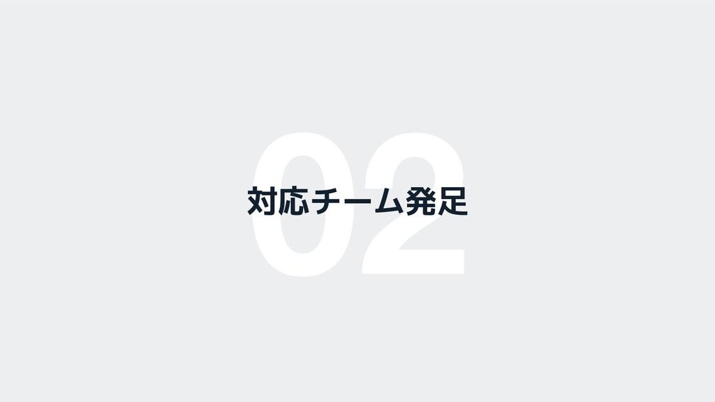 02 対応チーム発足
