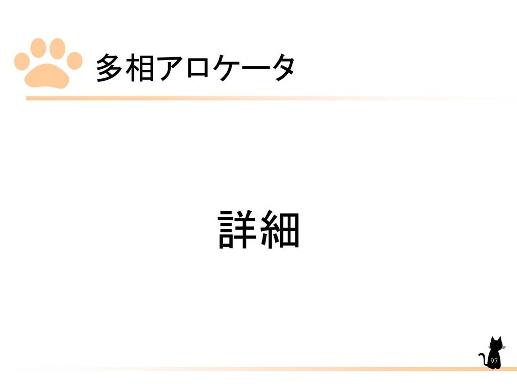 多相アロケータ 97 詳細