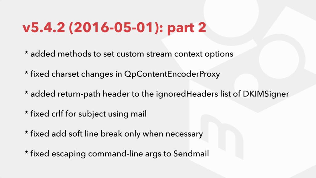 v5.4.2 (2016-05-01): part 2 * added methods to ...