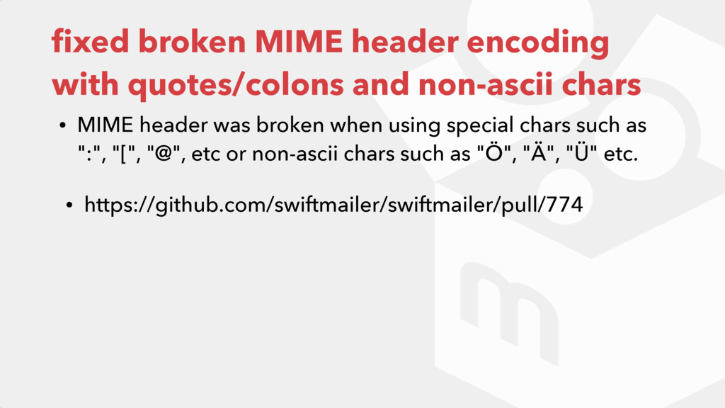fixed broken MIME header encoding with quotes/co...
