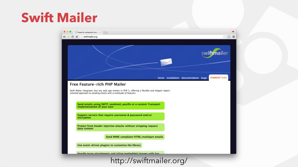 Swift Mailer http://swiftmailer.org/