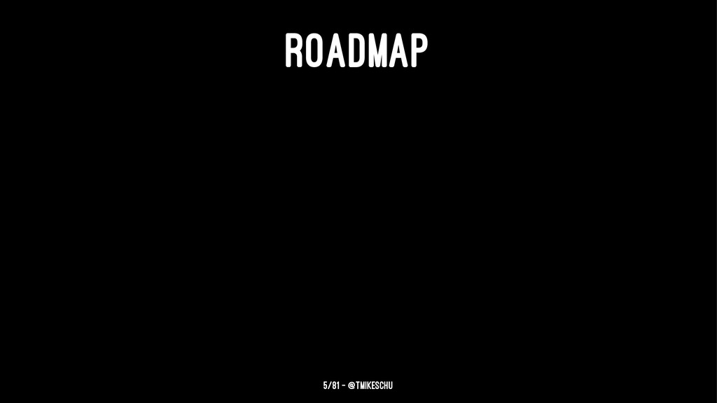 ROADMAP 5/81 — @tmikeschu