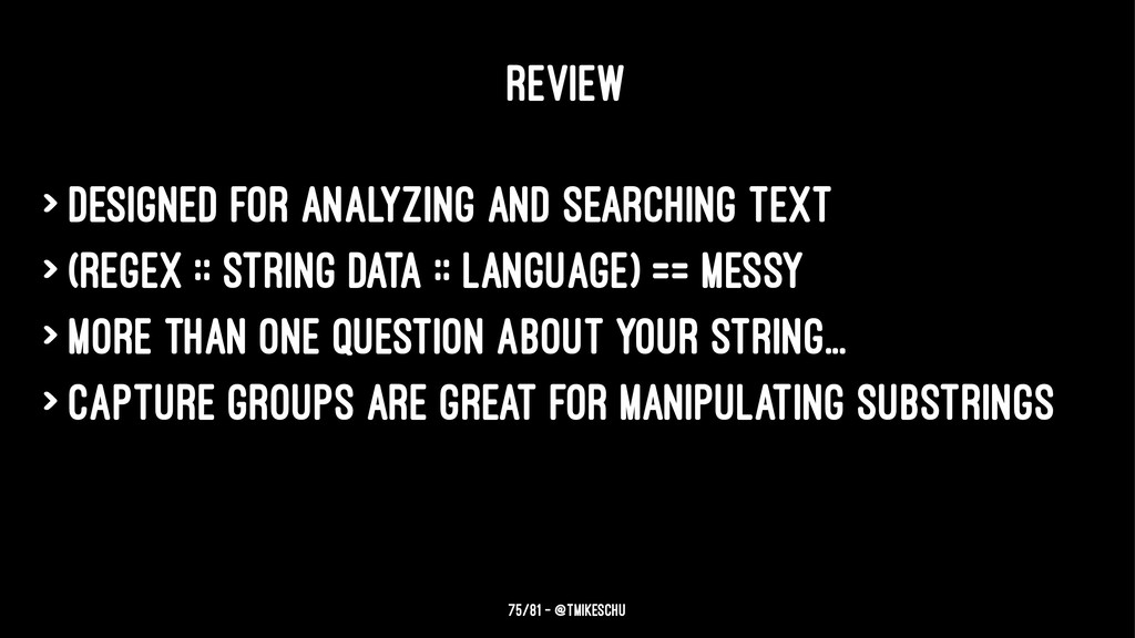 REVIEW > Designed for analyzing and searching t...