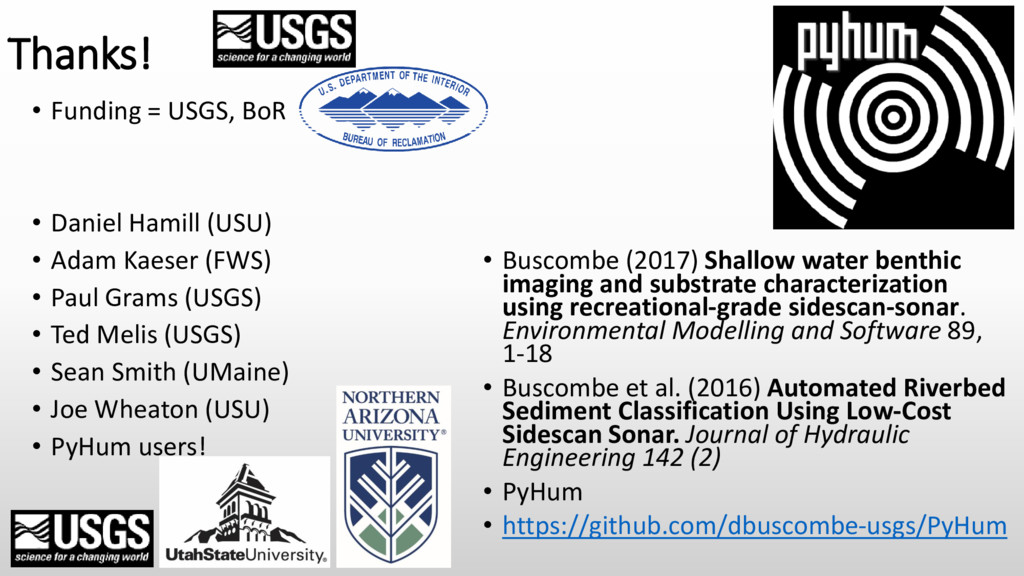 • Buscombe (2017) Shallow water benthic imaging...