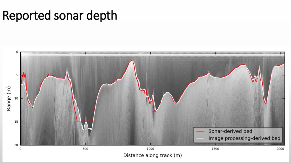 Reported sonar depth
