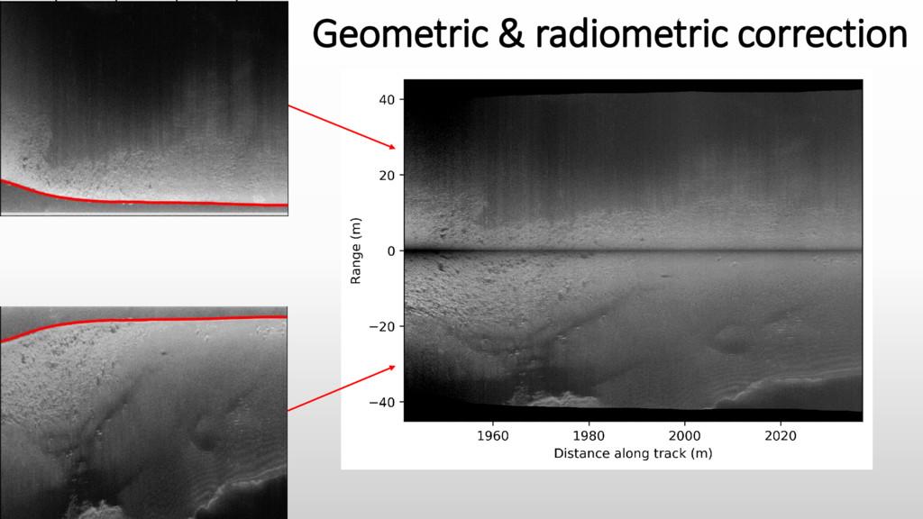 Geometric & radiometric correction