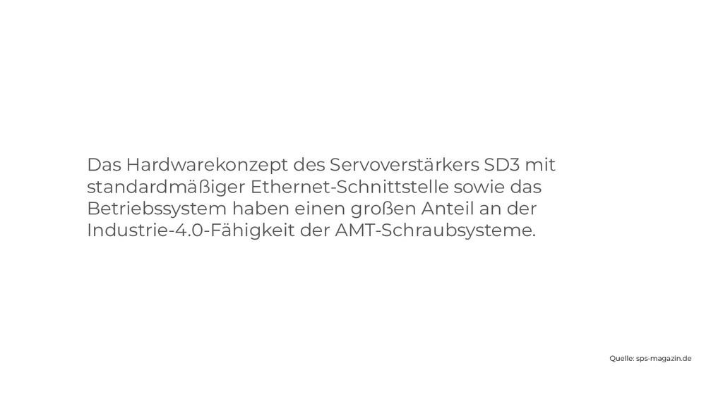 Das Hardwarekonzept des Servoverstärkers SD3 mi...
