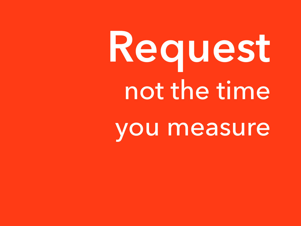 not the time you measure Request