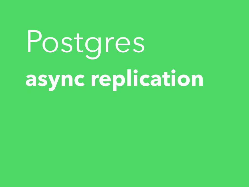 async replication Postgres