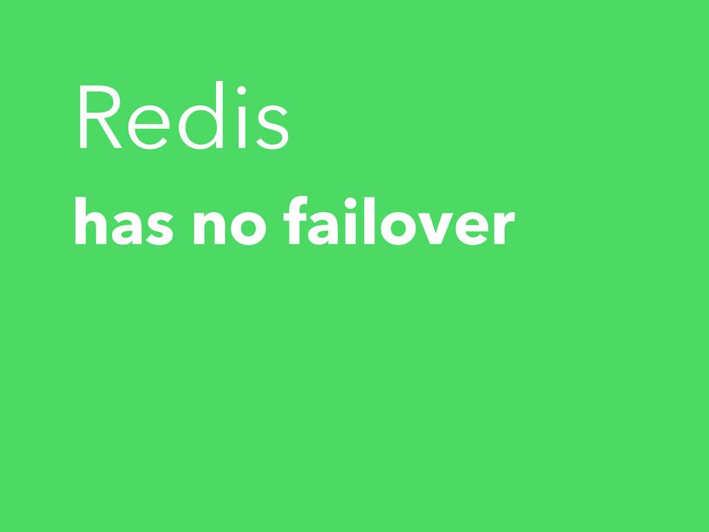 has no failover Redis
