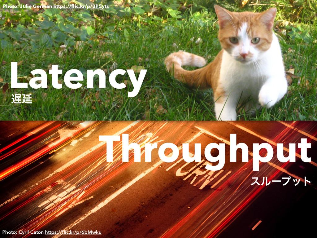 Latency Ԇ Throughput εϧʔϓοτ Photo: Julie Germa...