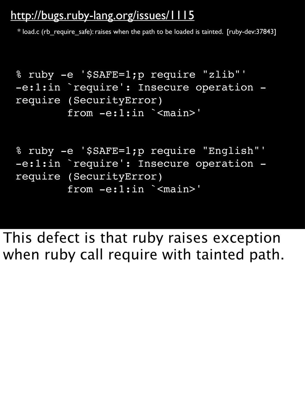 http://bugs.ruby-lang.org/issues/1115 * load.c ...