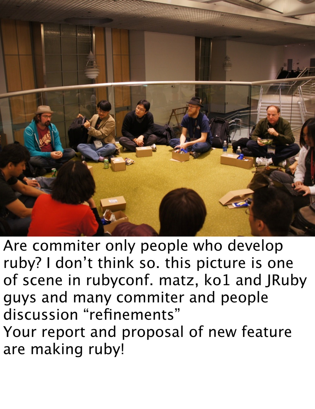 Are commiter only people who develop ruby? I do...
