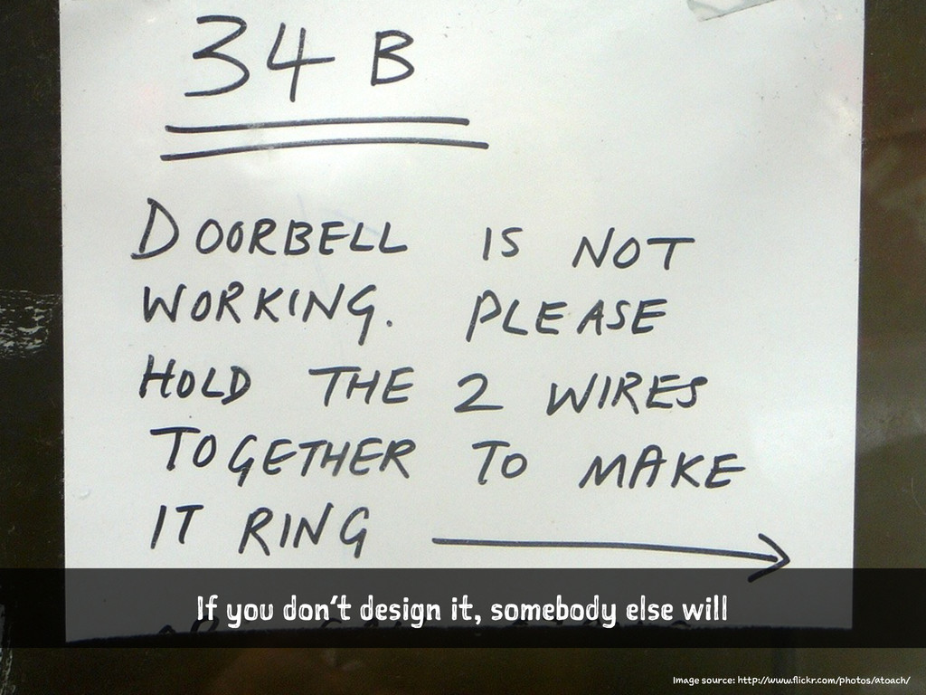If you don't design it, somebody else will Imag...