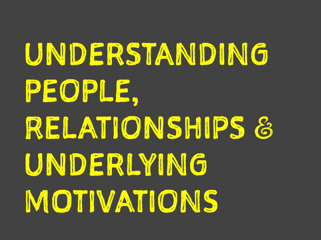 UNDERSTANDING PEOPLE, RELATIONSHIPS a UNDERLYI...