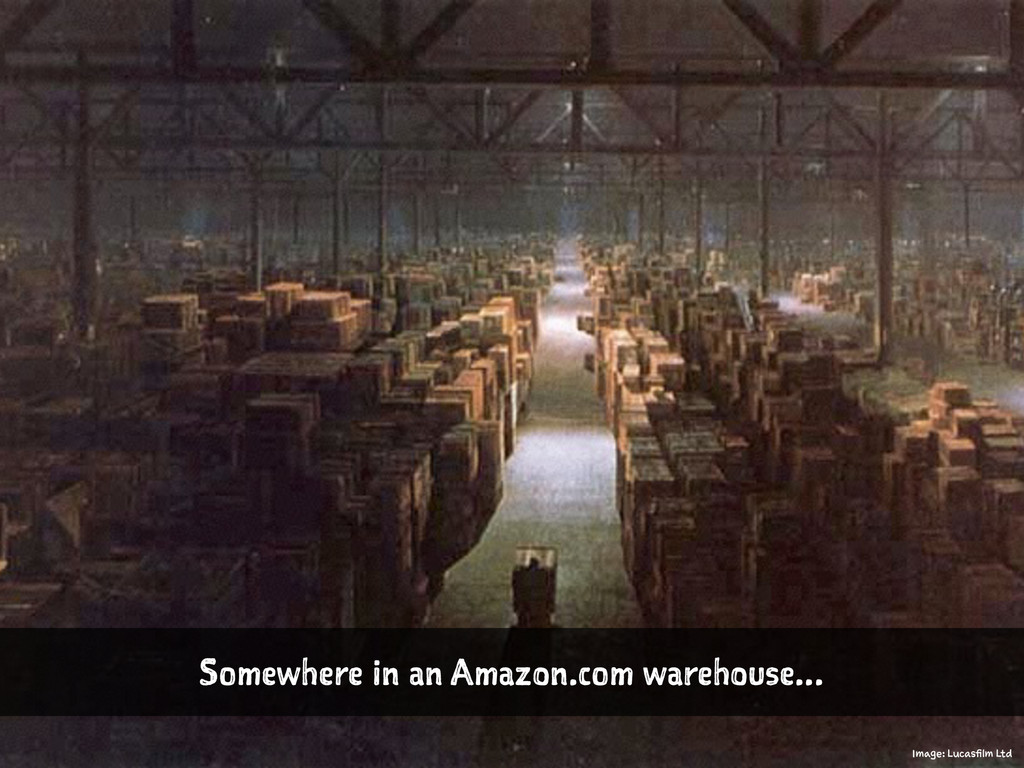 Somewhere in an Amazon.com warehouse... Image: ...