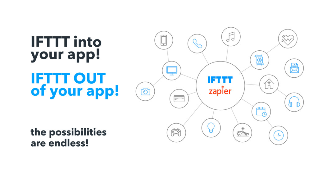 IFTTT into your app! IFTTT OUT of your app! the...