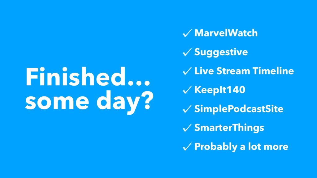 Finished… some day? MarvelWatch Suggestive Live...