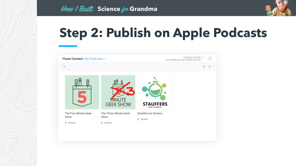 Science for Grandma How I Built Step 2: Publish...