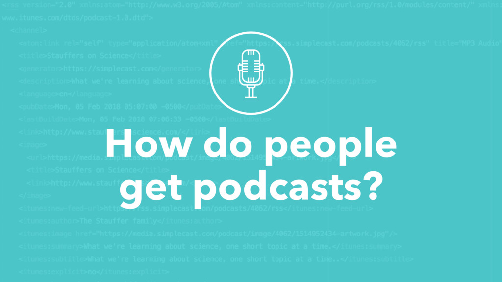 How do people get podcasts?