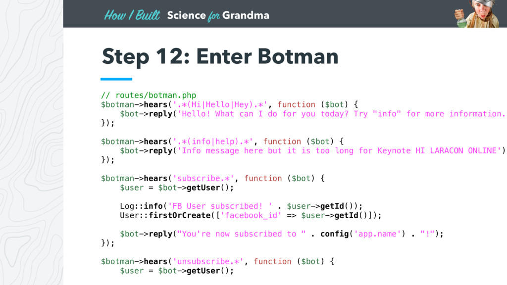 Science for Grandma How I Built Step 12: Enter ...