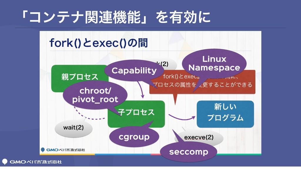 ʮίϯςφؔ࿈ػʯΛ༗ޮʹ cgroup Linux  Namespace Capabili...