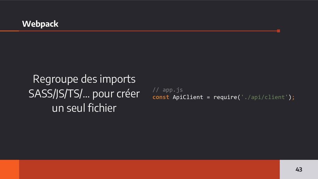 Webpack Regroupe des imports SASS/JS/TS/… pour ...