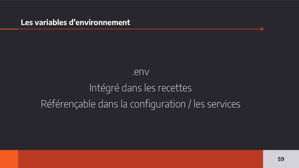Les variables d'environnement .env Intégré dans...