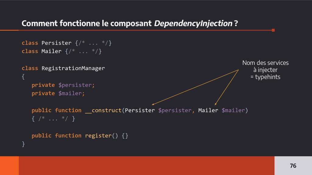 Comment fonctionne le composant DependencyInjec...